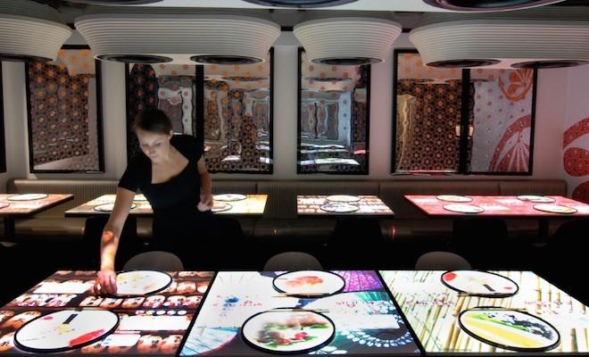 high tech restaurants in london